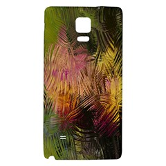 Abstract Brush Strokes In A Floral Pattern  Galaxy Note 4 Back Case by Simbadda