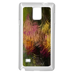 Abstract Brush Strokes In A Floral Pattern  Samsung Galaxy Note 4 Case (white) by Simbadda