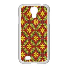 Beautiful Abstract Pattern Background Wallpaper Seamless Samsung Galaxy S4 I9500/ I9505 Case (white) by Simbadda