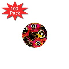 Abstract Clutter Pattern Baffled Field 1  Mini Buttons (100 Pack)  by Simbadda