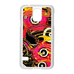 Abstract Clutter Pattern Baffled Field Samsung Galaxy S5 Case (white) by Simbadda