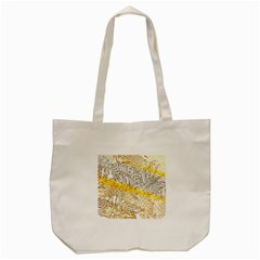 Abstract Composition Pattern Tote Bag (cream)