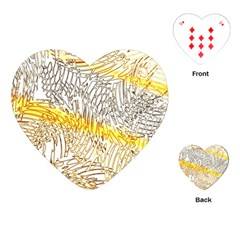 Abstract Composition Pattern Playing Cards (heart)  by Simbadda
