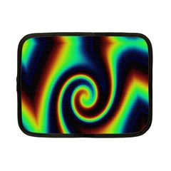 Background Colorful Vortex In Structure Netbook Case (small)  by Simbadda