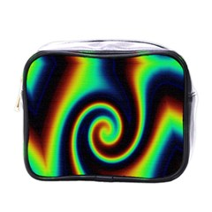 Background Colorful Vortex In Structure Mini Toiletries Bags by Simbadda