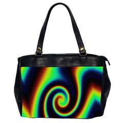 Background Colorful Vortex In Structure Office Handbags (2 Sides)  by Simbadda