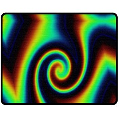 Background Colorful Vortex In Structure Fleece Blanket (medium)  by Simbadda