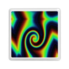 Background Colorful Vortex In Structure Memory Card Reader (square)  by Simbadda