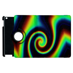 Background Colorful Vortex In Structure Apple Ipad 3/4 Flip 360 Case by Simbadda