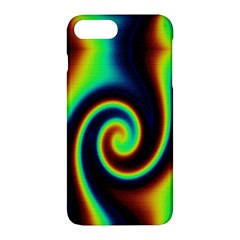 Background Colorful Vortex In Structure Apple iPhone 7 Plus Hardshell Case by Simbadda