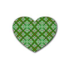 Digital Computer Graphic Seamless Geometric Ornament Heart Coaster (4 Pack)  by Simbadda