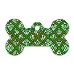Digital Computer Graphic Seamless Geometric Ornament Dog Tag Bone (two Sides) by Simbadda