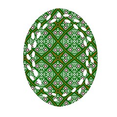 Digital Computer Graphic Seamless Geometric Ornament Oval Filigree Ornament (two Sides) by Simbadda