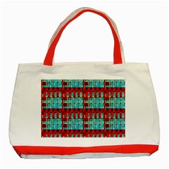 Architectural Abstract Pattern Classic Tote Bag (red) by Simbadda