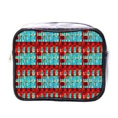 Architectural Abstract Pattern Mini Toiletries Bags by Simbadda