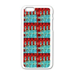 Architectural Abstract Pattern Apple Iphone 6/6s White Enamel Case by Simbadda