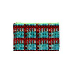 Architectural Abstract Pattern Cosmetic Bag (xs) by Simbadda