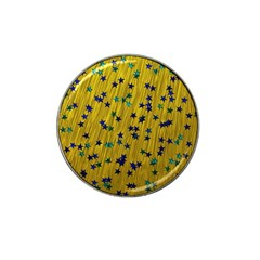 Abstract Gold Background With Blue Stars Hat Clip Ball Marker (10 Pack) by Simbadda