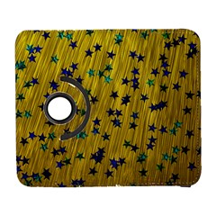 Abstract Gold Background With Blue Stars Galaxy S3 (flip/folio) by Simbadda
