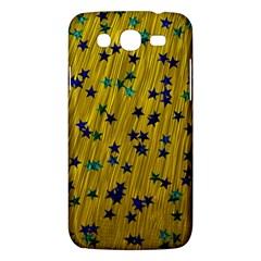 Abstract Gold Background With Blue Stars Samsung Galaxy Mega 5 8 I9152 Hardshell Case