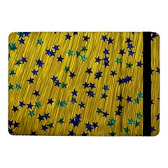 Abstract Gold Background With Blue Stars Samsung Galaxy Tab Pro 10 1  Flip Case by Simbadda