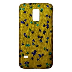 Abstract Gold Background With Blue Stars Galaxy S5 Mini by Simbadda