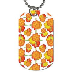 Colorful Stylized Floral Pattern Dog Tag (one Side) by dflcprints