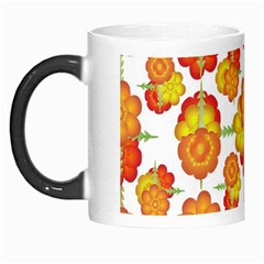 Colorful Stylized Floral Pattern Morph Mugs by dflcprints