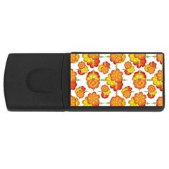 Colorful Stylized Floral Pattern Usb Flash Drive Rectangular (4 Gb) by dflcprints