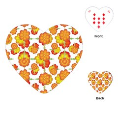 Colorful Stylized Floral Pattern Playing Cards (heart)  by dflcprints