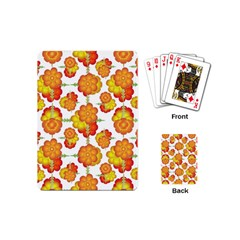 Colorful Stylized Floral Pattern Playing Cards (mini)  by dflcprints
