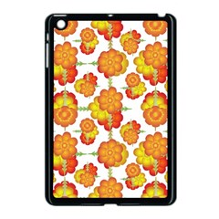 Colorful Stylized Floral Pattern Apple Ipad Mini Case (black) by dflcprints