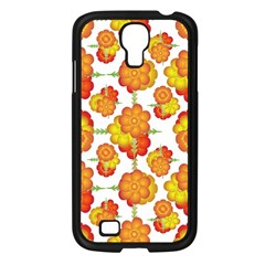 Colorful Stylized Floral Pattern Samsung Galaxy S4 I9500/ I9505 Case (black) by dflcprints