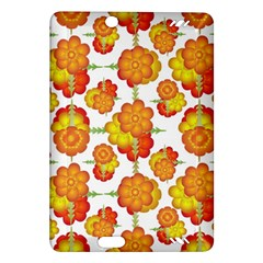 Colorful Stylized Floral Pattern Amazon Kindle Fire Hd (2013) Hardshell Case by dflcprints