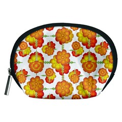 Colorful Stylized Floral Pattern Accessory Pouches (medium)  by dflcprints