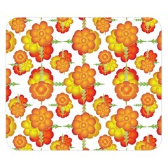 Colorful Stylized Floral Pattern Double Sided Flano Blanket (small)  by dflcprints