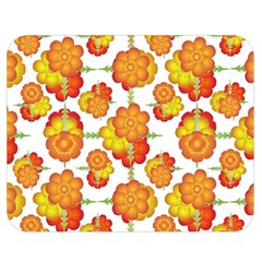 Colorful Stylized Floral Pattern Double Sided Flano Blanket (medium)  by dflcprints