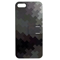 Abstract Pattern Moving Transverse Apple Iphone 5 Hardshell Case With Stand by Simbadda
