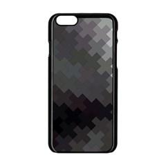 Abstract Pattern Moving Transverse Apple Iphone 6/6s Black Enamel Case by Simbadda
