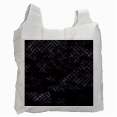 Woven2 Black Marble & Black Watercolor (r) Recycle Bag (one Side) by trendistuff