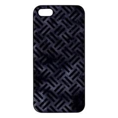 Woven2 Black Marble & Black Watercolor (r) Apple Iphone 5 Premium Hardshell Case by trendistuff