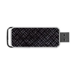 Woven2 Black Marble & Black Watercolor Portable Usb Flash (two Sides) by trendistuff