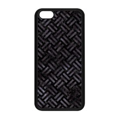 Woven2 Black Marble & Black Watercolor Apple Iphone 5c Seamless Case (black) by trendistuff