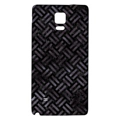 Woven2 Black Marble & Black Watercolor Samsung Note 4 Hardshell Back Case by trendistuff