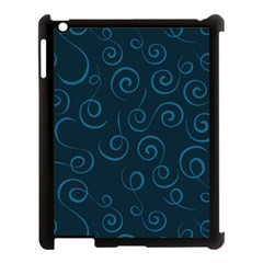 Pattern Apple Ipad 3/4 Case (black) by Valentinaart