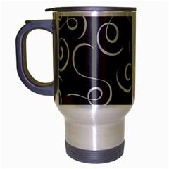Pattern Travel Mug (Silver Gray) by Valentinaart