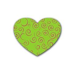 Pattern Heart Coaster (4 Pack)  by Valentinaart
