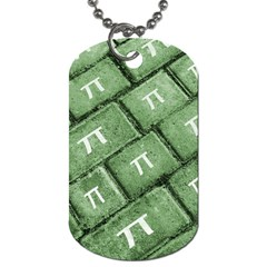 Pi Grunge Style Pattern Dog Tag (one Side) by dflcprints