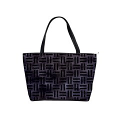 Woven1 Black Marble & Black Watercolor (r) Classic Shoulder Handbag by trendistuff