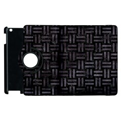 Woven1 Black Marble & Black Watercolor Apple Ipad 3/4 Flip 360 Case by trendistuff